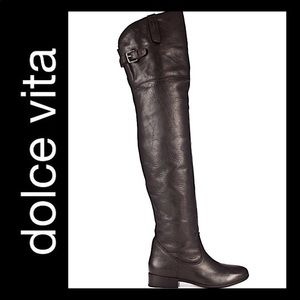 Dolce Vita Black Over The Knee Thigh Boot Size 6